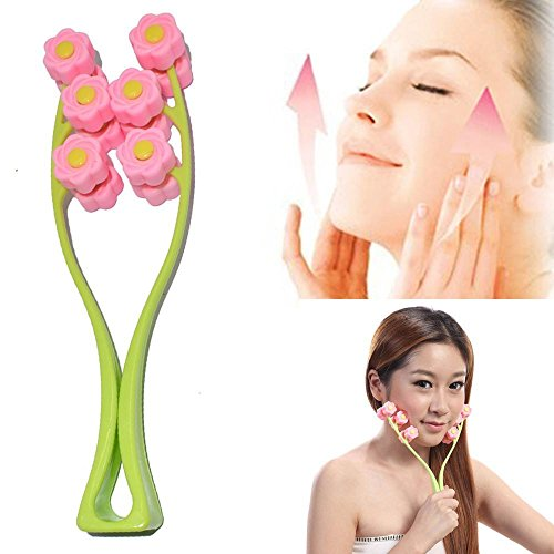 Greenwon Massage Massage Facial Massager Thin Face-lift Elastic Facial Roller Massage Cogit Cellulose Roller for Face Up