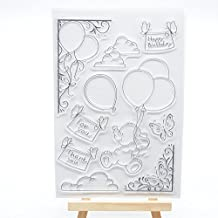 Welcome to Joyful Home 1pc Happy Birthday Clear Stamp for Card Making Decoration and Scrapbooking