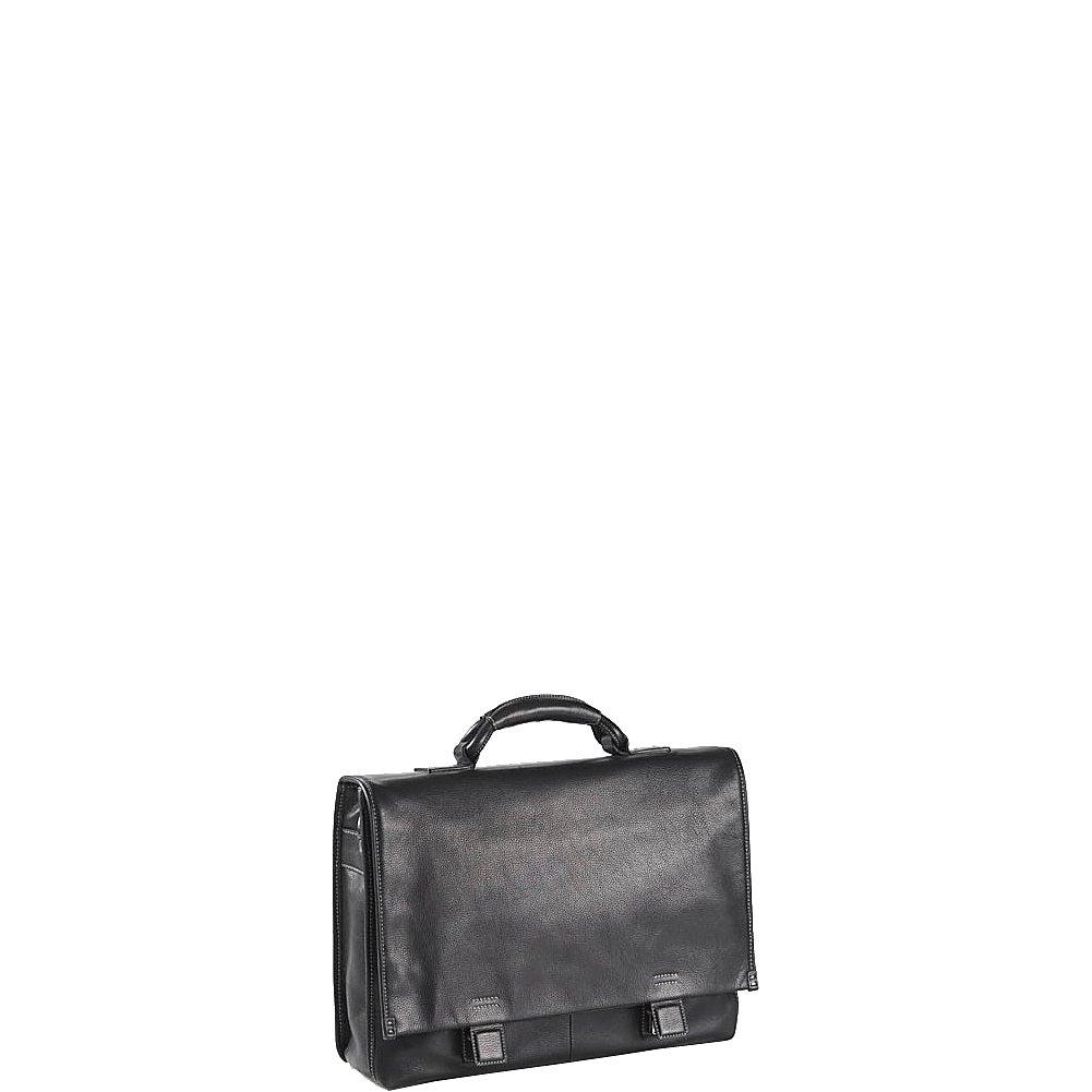Clava Tuscan Flap Briefcase (Tuscan Black)
