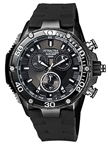 BLACK ON BLACK ATTRACTIVE WATER RESISTANT WATCH FOR MENS (Citizen Watch Silicone)
