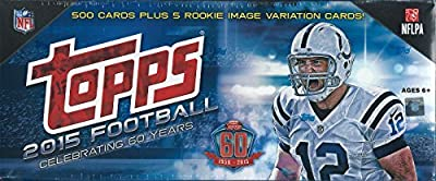 2015 Topps NFL Football Factory Sealed Set Retail Version Which Includes a Bonus Pack of 5 EXCLUSIVE Rookie Cards