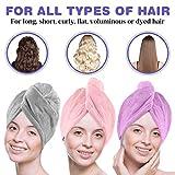 Microfiber Hair Towel Wrap POPCHOSE 3 Pack Ultra