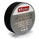 XFasten Professional Grade Gaffer Tape, 2 Inch X 60 Yards (Black)