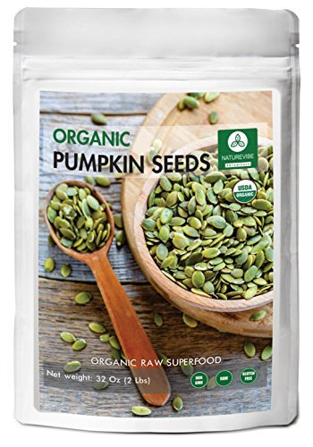 Organic Pumpkin Seeds (2lbs) by Naturevibe Botanicals, Gluten-Free & Non-GMO (32 ounces) ()