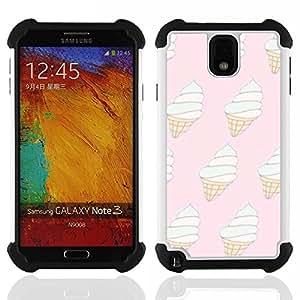 For Samsung Galaxy Note3 N9000 N9008V N9009 - ice cream pink white cone vanilla summer Dual Layer caso de Shell HUELGA Impacto pata de cabra con im????genes gr????ficas Steam - Funny Shop -