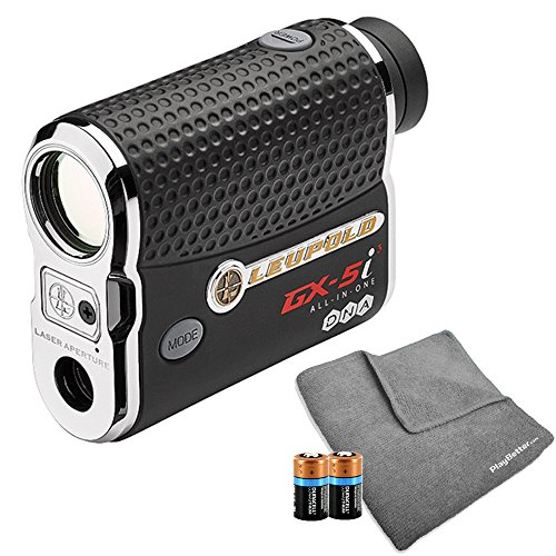 Leupold 2017 GX 5i3 Golf Rangefinder BUNDLE I Includes Golf Rangefinder (Slope & Non Slope Function) with Carrying Case, PlayBetter Microfiber Towel and Two (2) CR2 Batteries