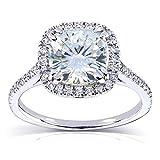 Kobelli Near-Colorless (F-G) Moissanite Engagement Ring 2 1/4 CTW 14k White Gold (7.5mm)