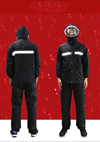 moto moto RFVBNM spessa spessa impermeabile da impermeabile uomo divisa corpo doppio equitazione tuta nero rossa auto Pioggia singolo elettrica pantaloni XXXL impermeabile L qwgSqv