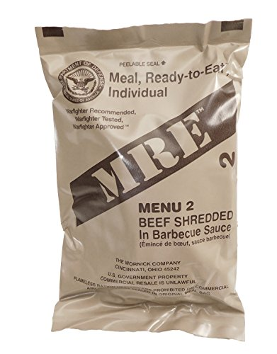 MRE (Meals Ready-to-Eat) Select Your Meal, Genuine US Mil...