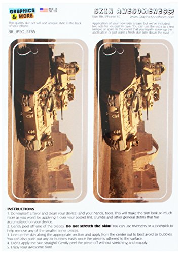Army Fighting Vehicles - Graphics and More US Army Infantry Bradley Armored Fighting Vehicle Protective Skin Sticker Case for Apple iPhone 5C - Set of 2 - Non-Retail Packaging - Opaque