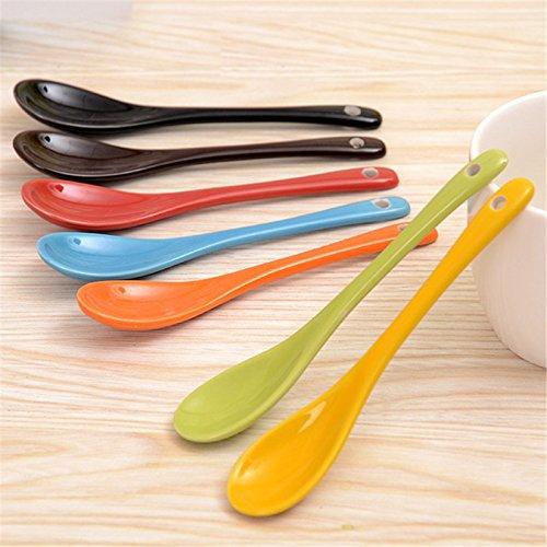 13 cm iTemer 7 colores//juego lovely de porcelana cucharas de t/é sopa de cucharillas de caf/é cucharas de postre juego de utensilios de cer/ámica
