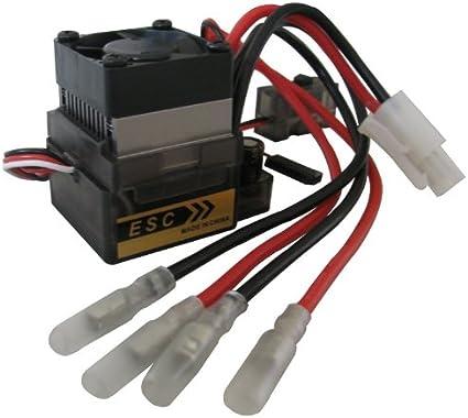 320A High Volt Brushed ESC V2 Speed Controller T-plug f 1//10 4WD RC Off-Road Car