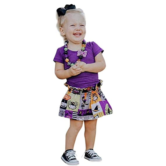 K-youth Ropa Bebe Niña Halloween 2018 Ofertas Infantil Recien Nacido Bebé Niña Camisas de
