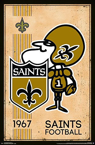 Trends International New Orleans Saints Retro Logo Wall Poster 22.375