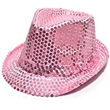 HuaYang Nouveau paillette style chapeau panama pour les enfants(Rose)