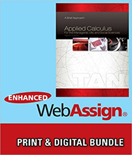 Bundle applied calculus for the managerial life and social bundle applied calculus for the managerial life and social sciences a brief approach 10th webassign printed access card for tans applied fandeluxe Gallery