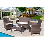 Homall-4-Pieces-Outdoor-Patio-Furniture-Sets-Rattan-Chair-Wicker-Set-Outdoor-Indoor-Use-Backyard-Porch-Garden-Poolside-Balcony-Furniture-Sets-Clearance-Brown-and-Beige