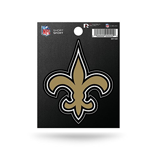 Rico Industries NFL New Orleans Saints Die Cut Team Logo Short Sport Sticker