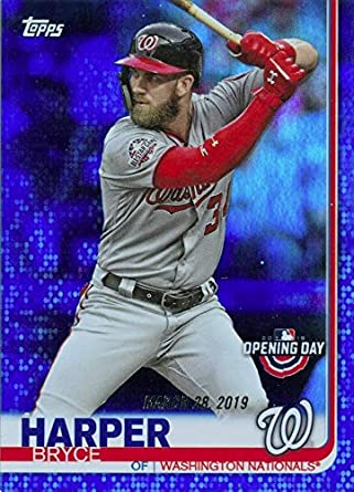 Amazoncom 2019 Topps Opening Day Bryce Harper Blue