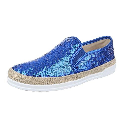 Ital-Design - zapatilla baja Mujer Blau 50701
