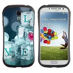 """Pulsar iFace Series Tpu silicona Carcasa Funda Case para SAMSUNG Galaxy S4 IV / i9500 / i9515 / i9505G / SGH-i337 , Cita hielo Bling del corazón de Blur Diamantes"""""""