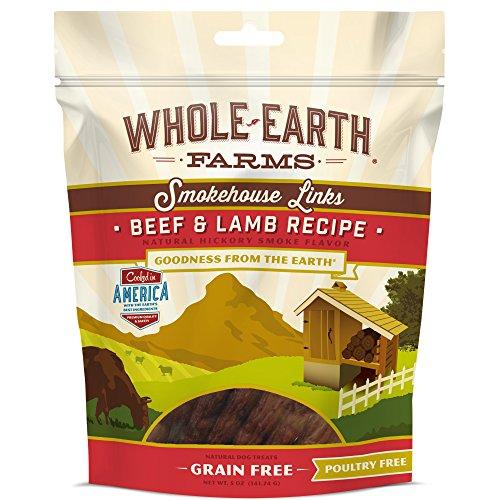 Whole Earth Farms Grain Free Smokehouse Links Beef & Lamb Recipe, 5 Oz.