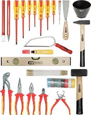 KS Tools 117.0180 Pack Herramientas, en maletín de Cuero de Vacuno ...