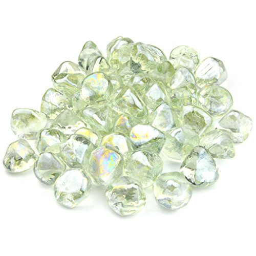 Onlyfire Reflective Fire Glass Diamonds for Natural or Propane Fire Pit, Fireplace, or Gas Log Sets, 10-Pound, 1/2-Inch, Crystal Ice Review