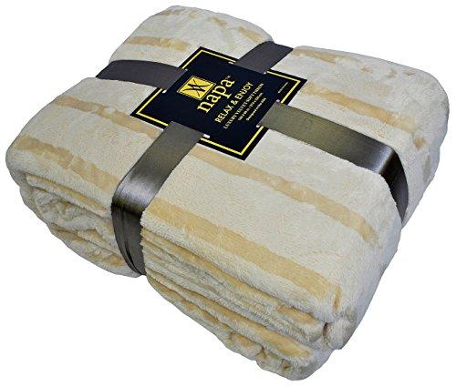"""Napa Plush Cashmere Throw Blanket Latte, King 108""""x 90"""", S"""