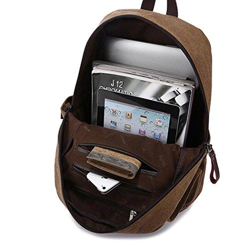 Freizeit Canvas Backpack Erholung Einkaufen Wandern Reise Paare Stil Rucksack Tasche Tasche