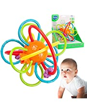 HOLA Baby Rattle Teether Ball Toy Soothing Sensory Honey Comb BPA-Free Rattles Teething Toys for Gift Infant Toddler 0 Months Plus