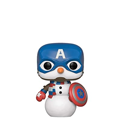 Funko Pop! Marvel: Holiday - Captain America Snowman: Toys & Games