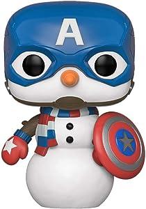 Funko Pop! Marvel: Holiday - Captain America Snowman, Multicolor, us one-Size