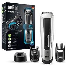 Braun BT5090 - Máquina Cortar Pelo, Recortadora Barba, Hombre, con Ajuste Fino Cada 0.5 mm y Cortapelos de Precisión, Negro/Plata
