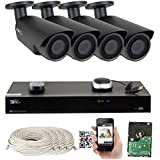 8 Channel H.265 4K NVR 5MP 1920p POE IP Camera System Wired, 4 x Varifocal Zoom 2.8-12mm Outdoor Indoor Security Camera - H.265 (Double recording data and enhance picture quality compared to H.264)