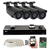 GW Security 32CH 5Megapixel NVR Kits IP Camera Network Video Security System - 20 x 5MP 1080P CCTV Bullet Cameras, Plug and Play Setup, Pre-Installed 2TB Hard Drive