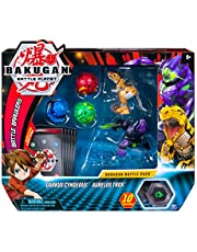 Save big on Bakugan, Battle Pack 5 Pack, Darkus Cyndeous & Aurelus Trox, Collectible Cards & Figures, for Ages 6 & Up. Discount applied in price displayed.