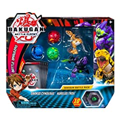 Will you leave Battle Planet victorious? Jumpstart your Bakugan collection with the Bakugan Battle Pack! Inside this pack, you'll find two fierce Bakugan Ultra, three Bakugan, 10 powerful BakuCores, 5 Character Cards and 5 collectible Ability...