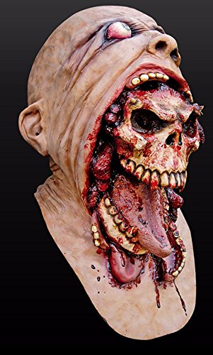 Latex Rubber Mask Halloween Realistic (Zombie Skull Tearing Out)