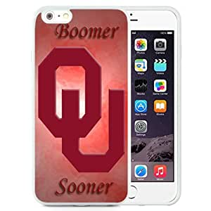 NEW Personalized Customized iphone 4 4s Case with NCAA Big 12 Conference Big12 Football Oklahoma Sooners 10 Protective Cell Phone TPU Cover Case for iphone 4 4s Generation White