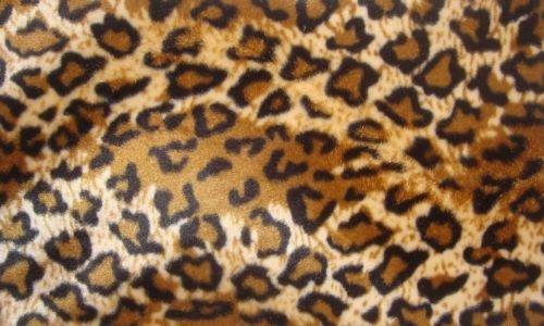 Jaguar Faux Fur - Velboa Faux Fur Fabric Animal Print JAGUAR 60