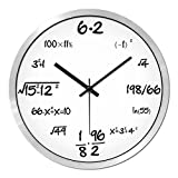 HOMEE Clock-the creative personality of mathematical functions simple and stylish living room wall clock study decorative clocks,16 Inches