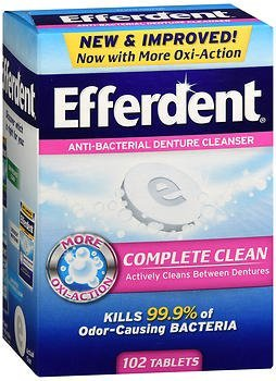 Efferdent Original Anti-Bacterial Denture Cleanser Tablets, 102 Count by ()