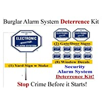 Security Sign & Security Decal - Kit #102 Burglar Alarm Warning Deterrence System