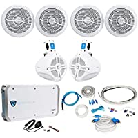 2) Rockville RMC80W 8 800w Marine Boat Speakers+2) Wakeboards+Amplifier+Amp Kit