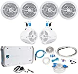 2) Rockville RMC80W 8'' 800w Marine Boat Speakers+2) Wakeboards+Amplifier+Amp Kit
