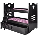 Naomi Kids Doll Bunk Bed with Trundle Espresso