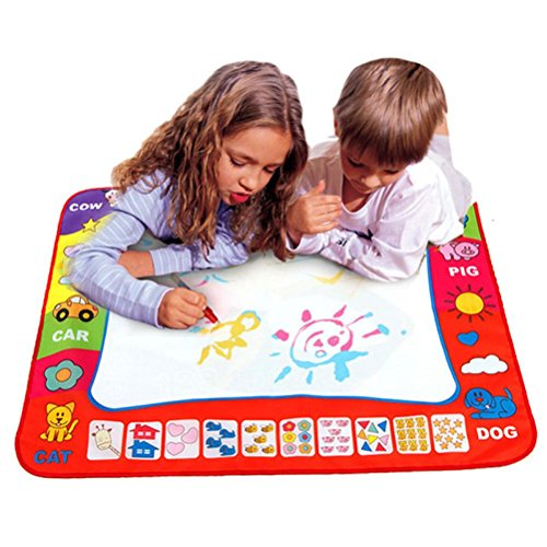 OVERMAL Aqua Doodle Children's Drawing Toys Mat Magic Pen Educational Toy 1 Mat+ 2 Water Drawing Pen