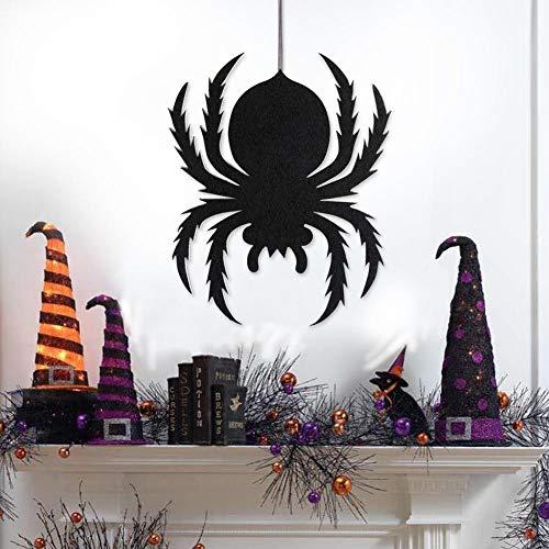 (Party DIY Decorations - 1pc Spider Non Woven Hanging Sign Spooky Halloween Wall Door Trick Prop Party Decor - Party Decorations Party Decorations Spider Door Fireplace Halloween Pumpkin King)