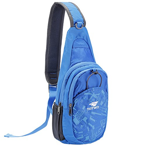 YHLCSQ Small Crossbody Sling Backpack, Backpack for Traveling Mini Sling Purse Chest Bags for Men&Women kid Boys Girls Multipurpose Casual Daypack Hiking Shoulder Bag, Blue
